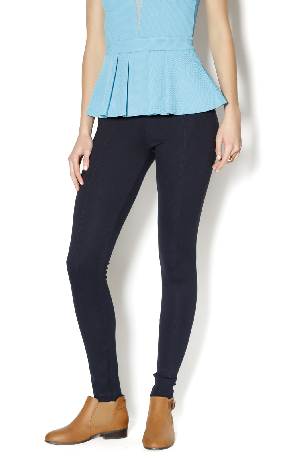 Lyssé Navy Leggings - Main Image