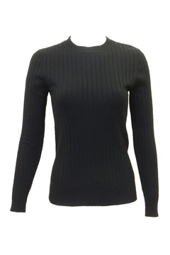 Shoptiques Product: 24/7 Ribbed Long Sleeve Sweater