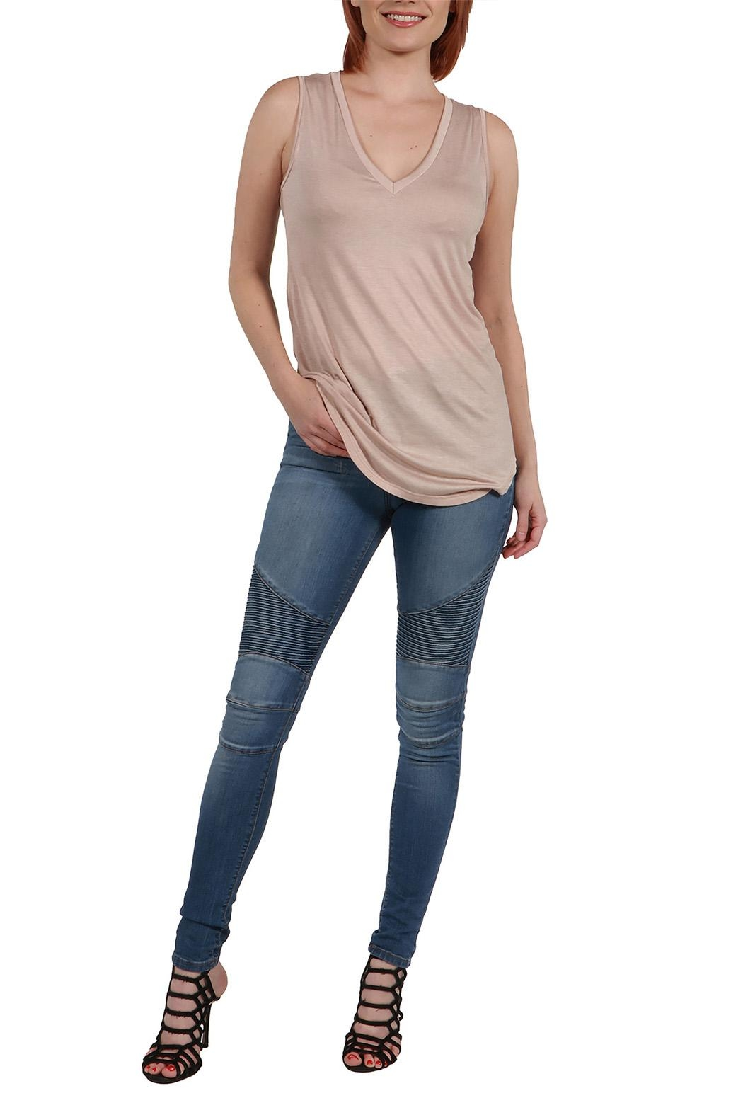 24/7 Comfort Apparel Avery Tunic Top - Side Cropped Image