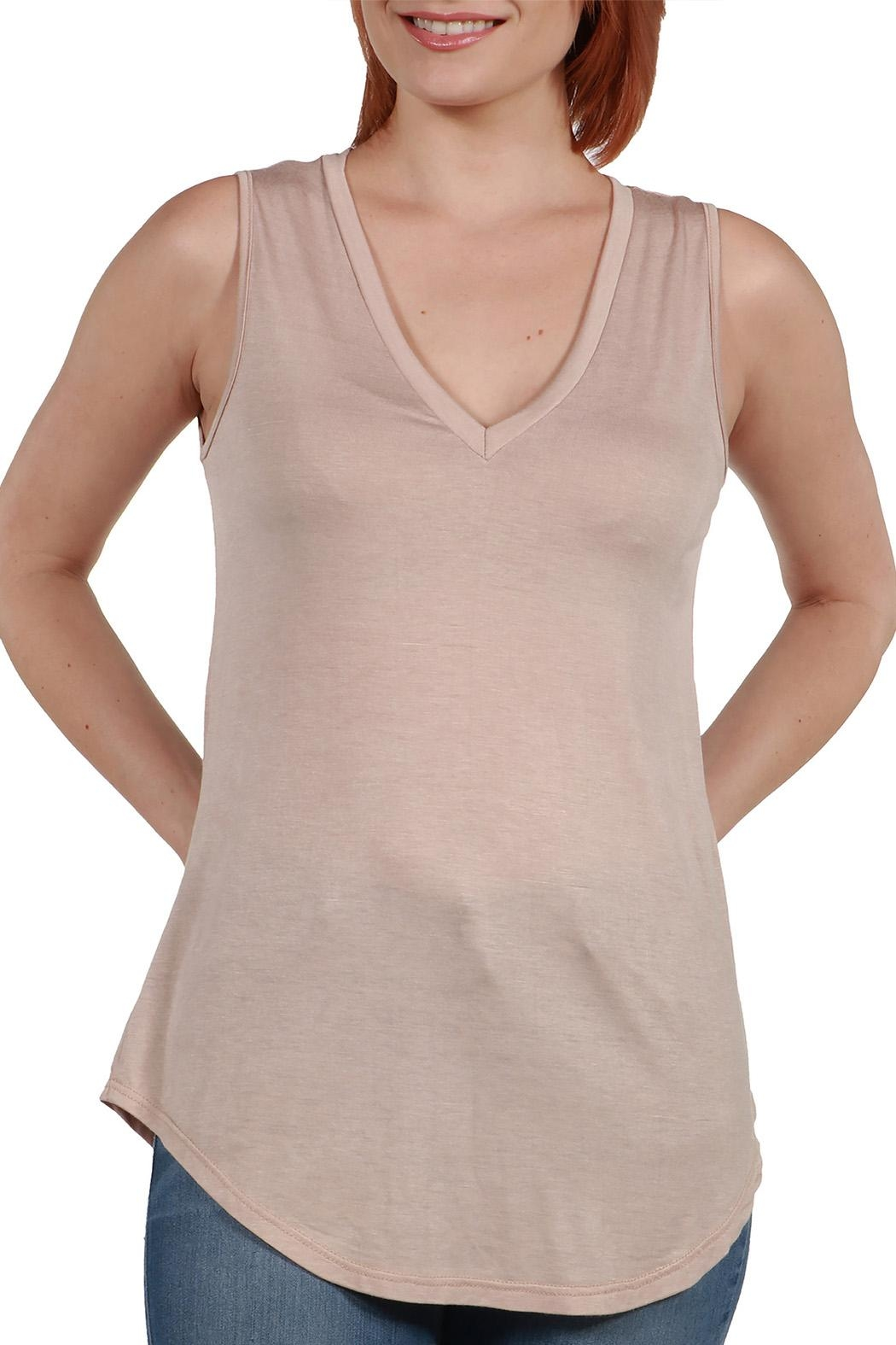 24/7 Comfort Apparel Avery Tunic Top - Front Full Image