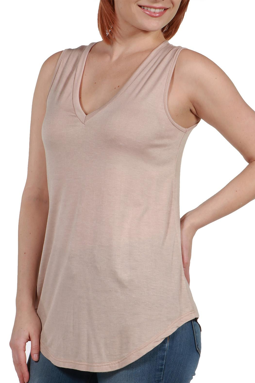 24/7 Comfort Apparel Avery Tunic Top - Front Cropped Image