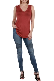 24/7 Comfort Apparel Avery Tunic Top - Back cropped