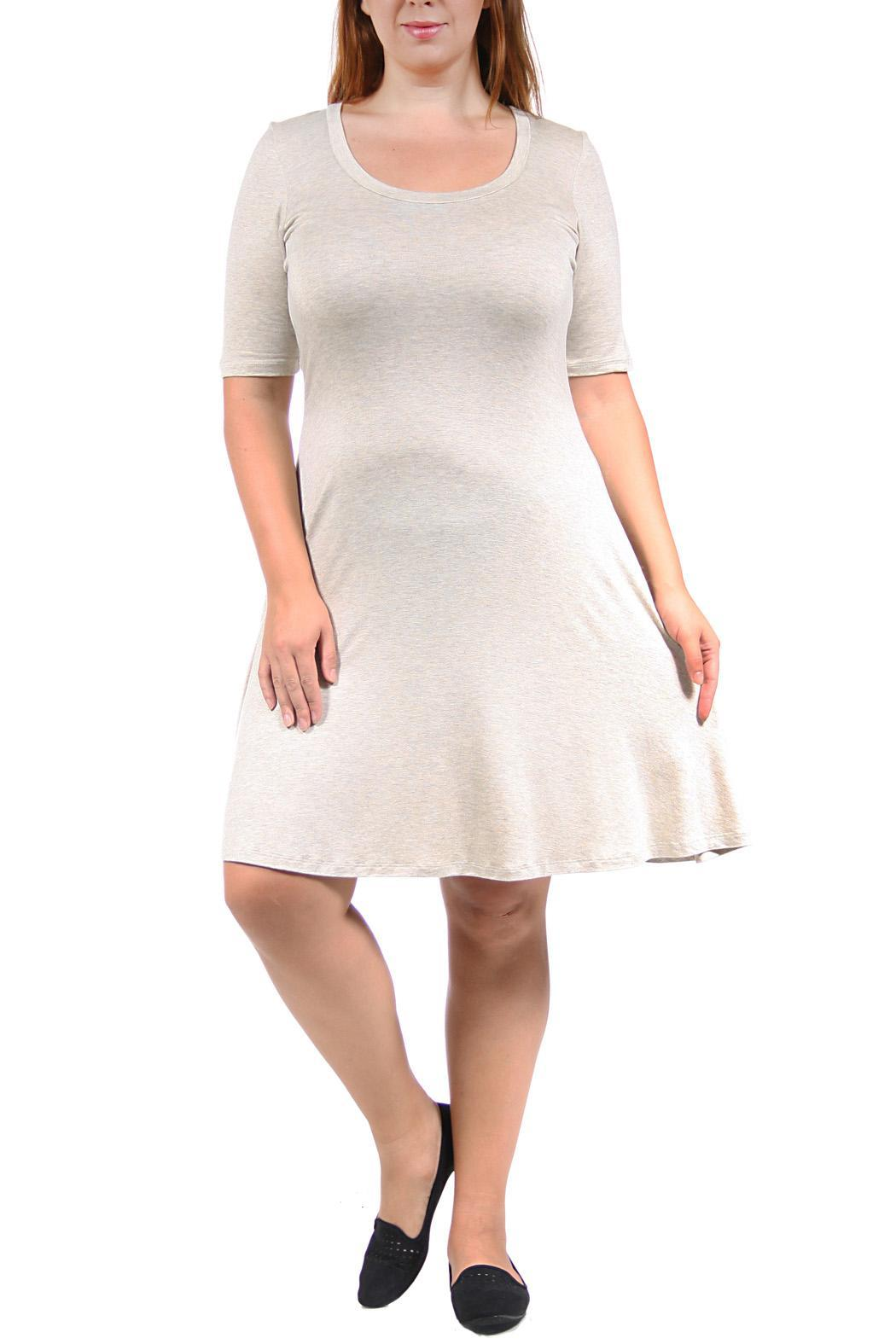 24/7 Comfort Apparel Elbow-Sleeve Dress from California by ...