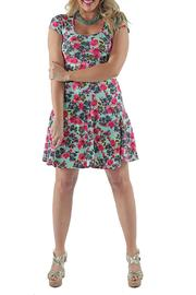 24/7 Comfort Apparel Floral A-Line Dress - Product Mini Image
