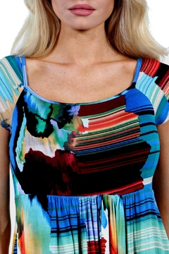 24/7 Comfort Apparel French Watercolor Top - Alternate List Image