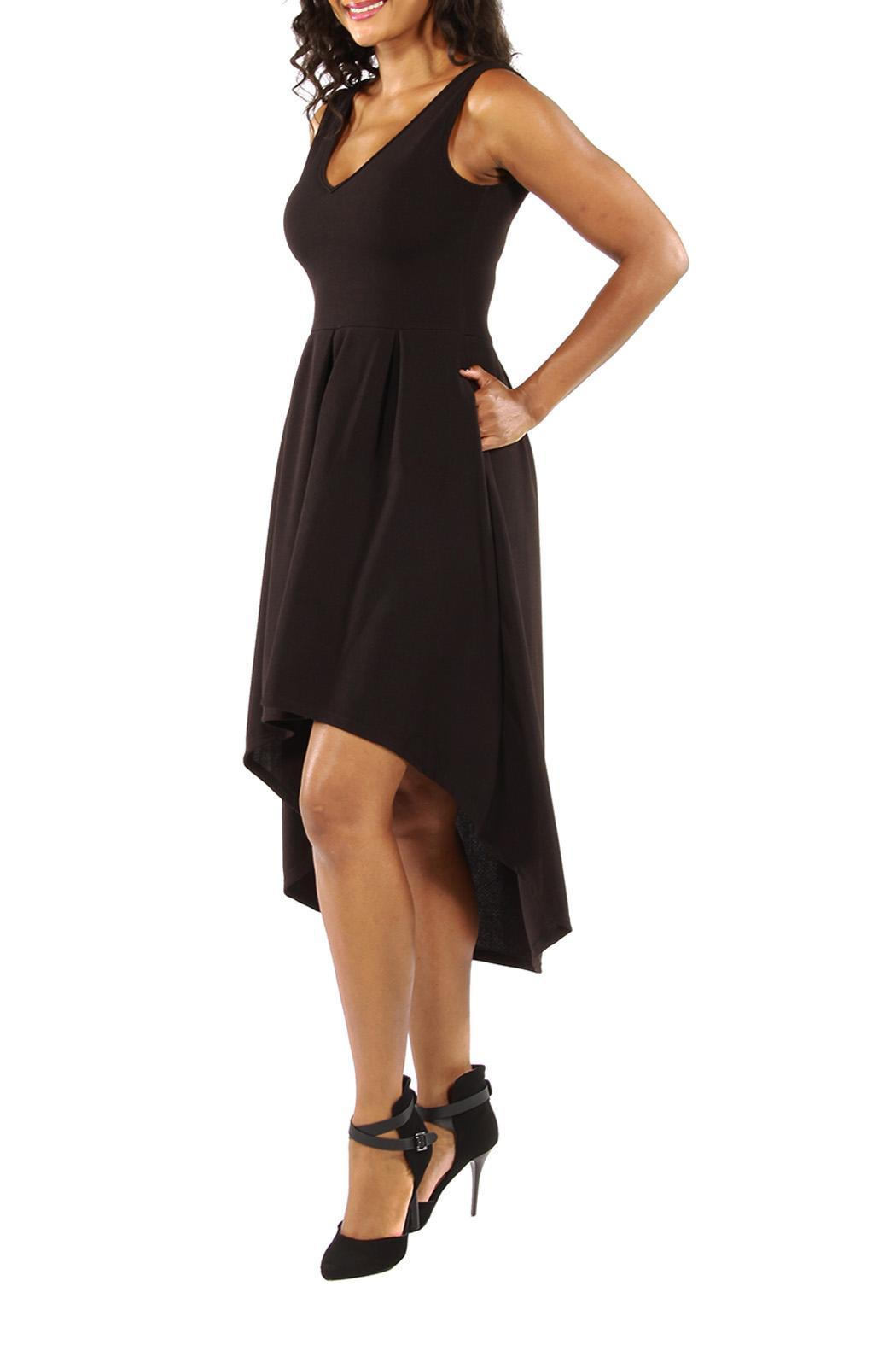 24 7 Comfort Apparel High Low Dress From California By The