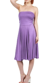 24/7 Comfort Apparel Irresistible Strapless Dress - Front full body