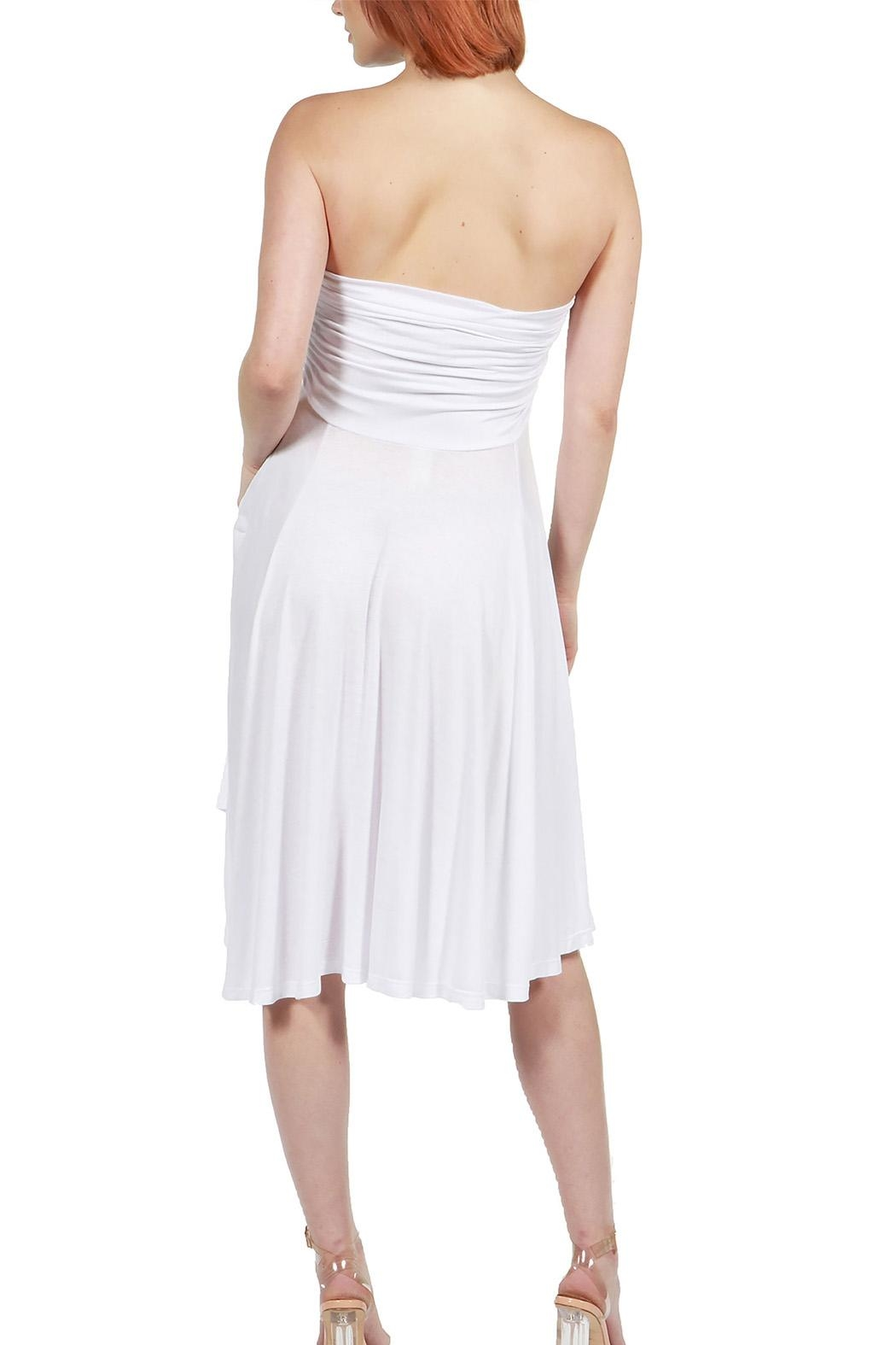 24/7 Comfort Apparel Irresistible Strapless Dress - Side Cropped Image
