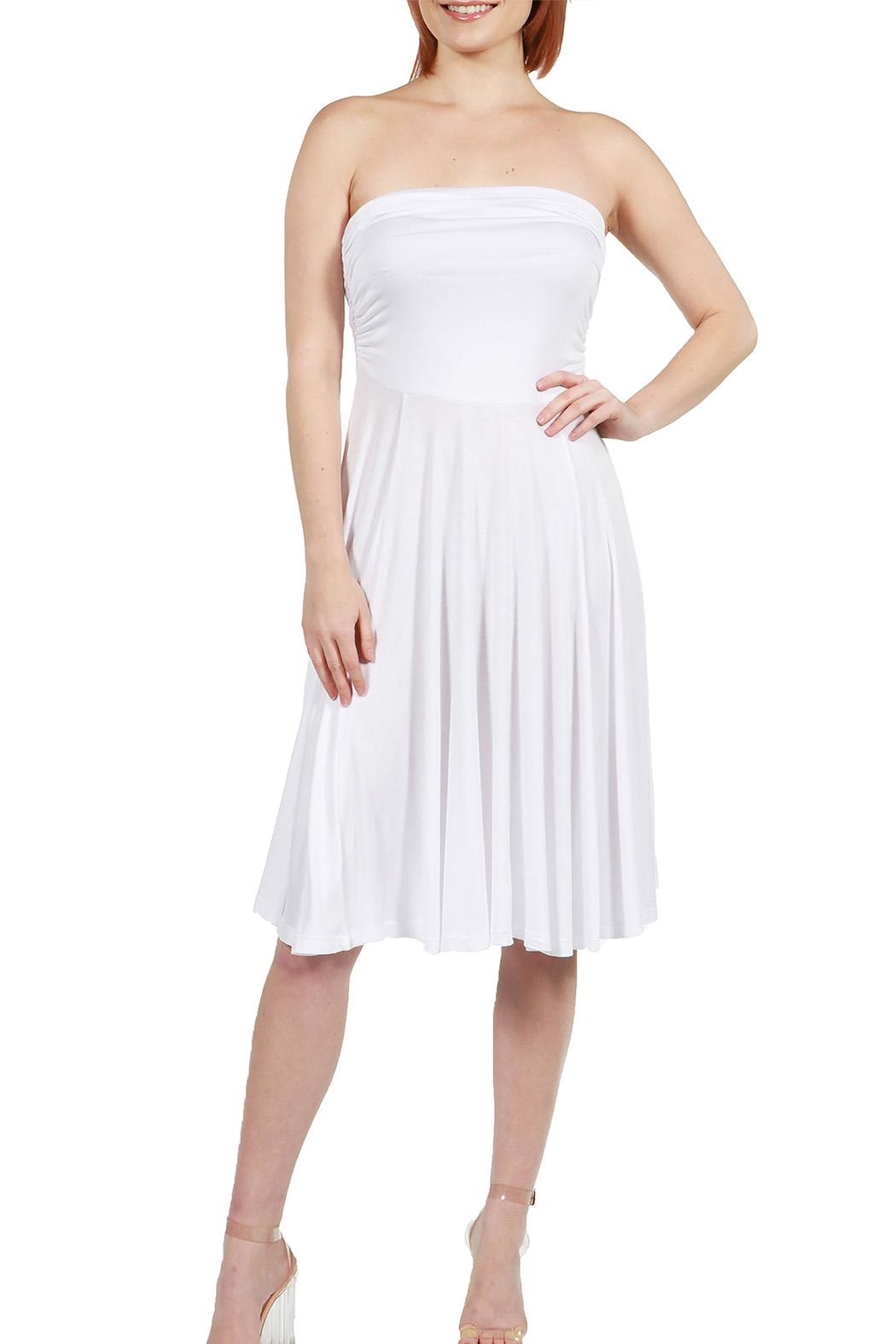 24/7 Comfort Apparel Irresistible Strapless Dress - Main Image