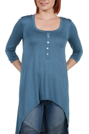 24/7 Comfort Apparel Laila Henley Top - Product Mini Image