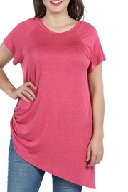 24/7 Comfort Apparel Plus Asymmetric Tee - Front cropped