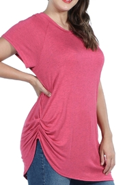24/7 Comfort Apparel Plus Asymmetric Tee - Front full body