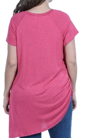 24/7 Comfort Apparel Plus Asymmetric Tee - Side cropped