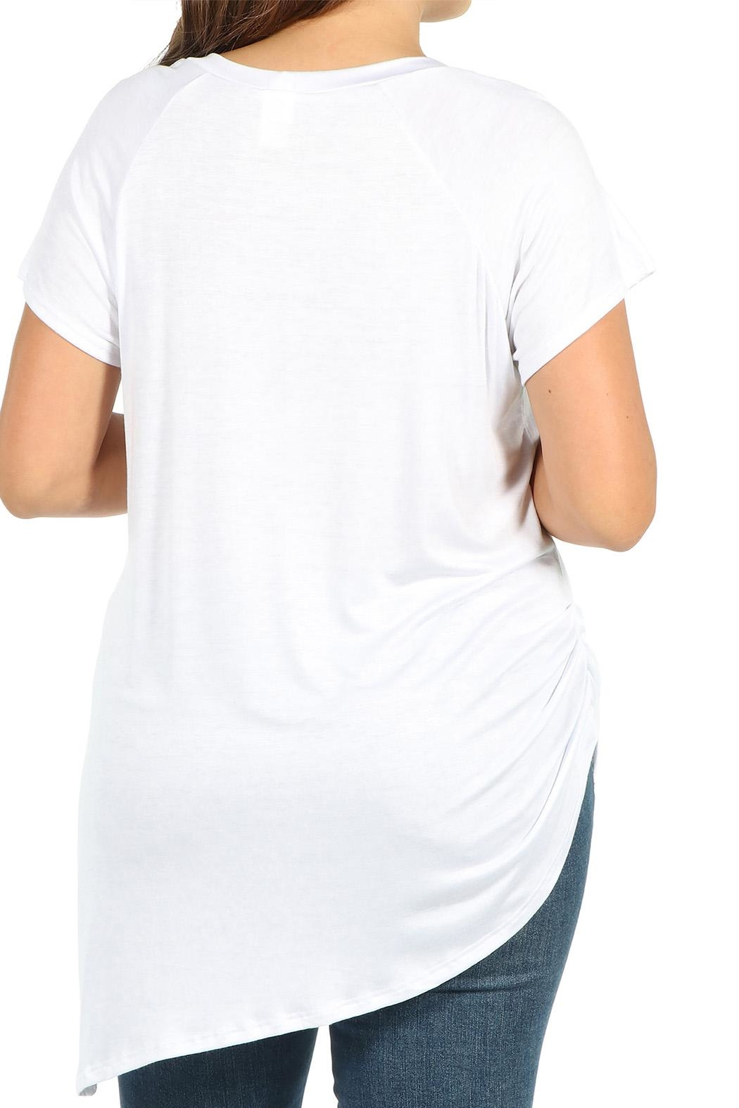 24/7 Comfort Apparel Plus Asymmetric Tee - Side Cropped Image