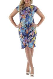 24/7 Comfort Apparel Plus Size Printed Dress - Product Mini Image