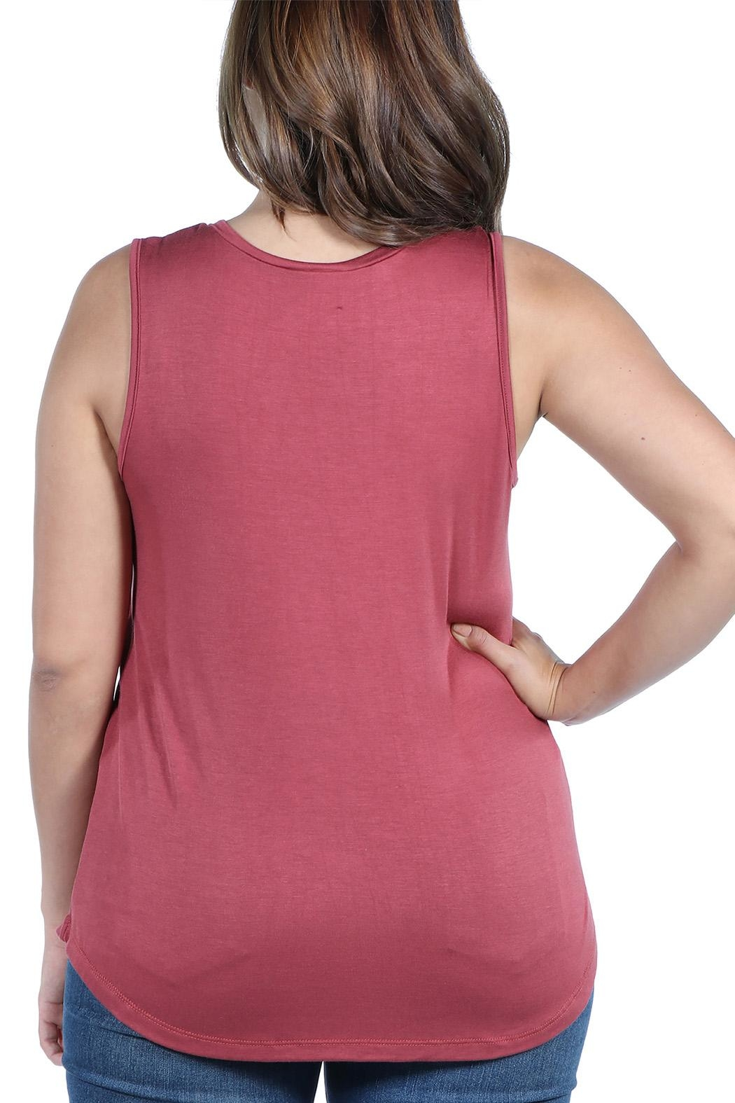 24/7 Comfort Apparel Plus Sleeveless Top - Side Cropped Image