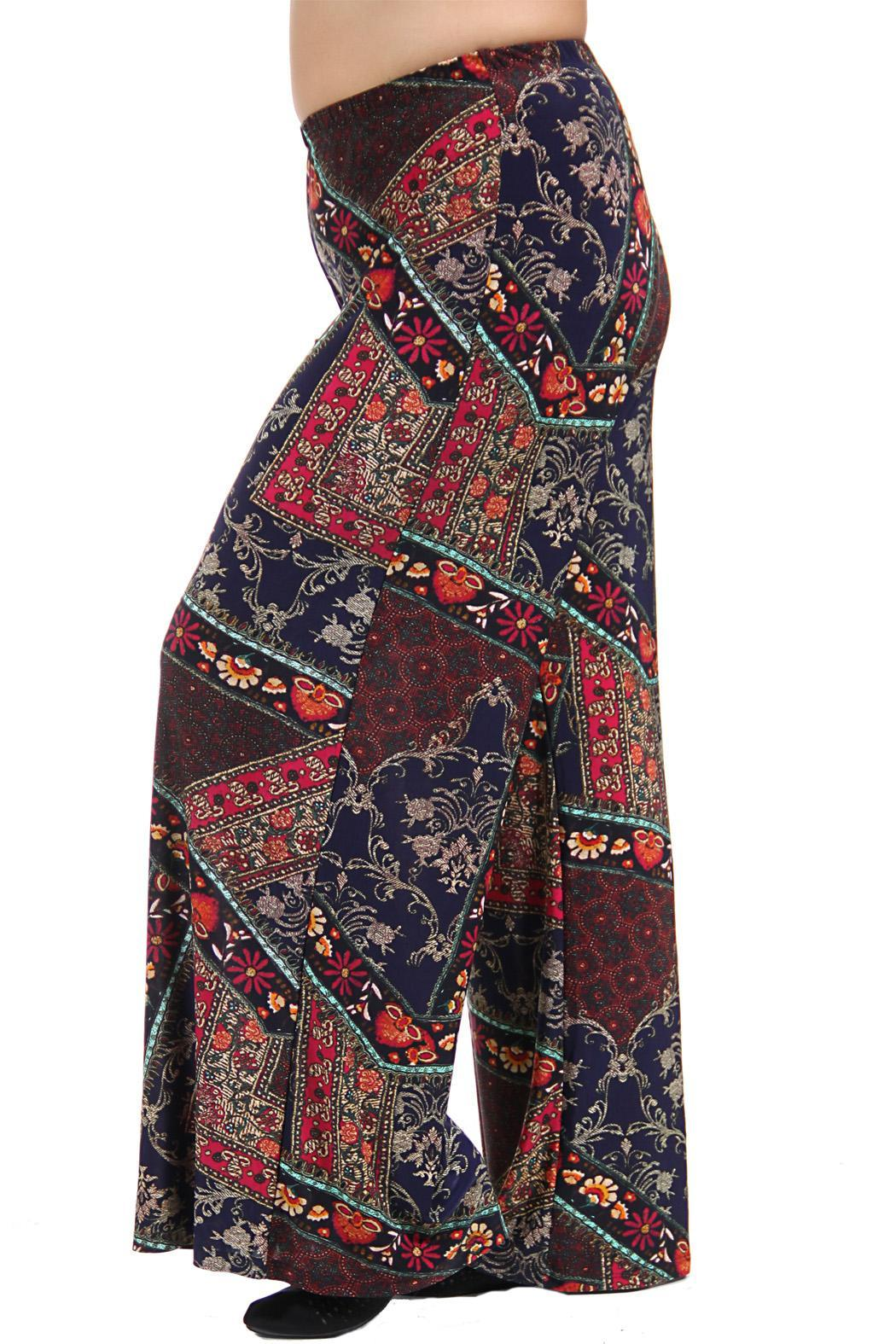 24 7 comfort apparel printed palazzo pants from california for Palazzo 24
