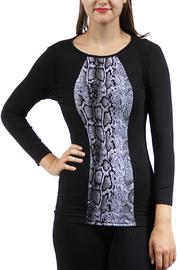 24/7 Comfort Apparel Snakeskin Printed Tunic - Product Mini Image