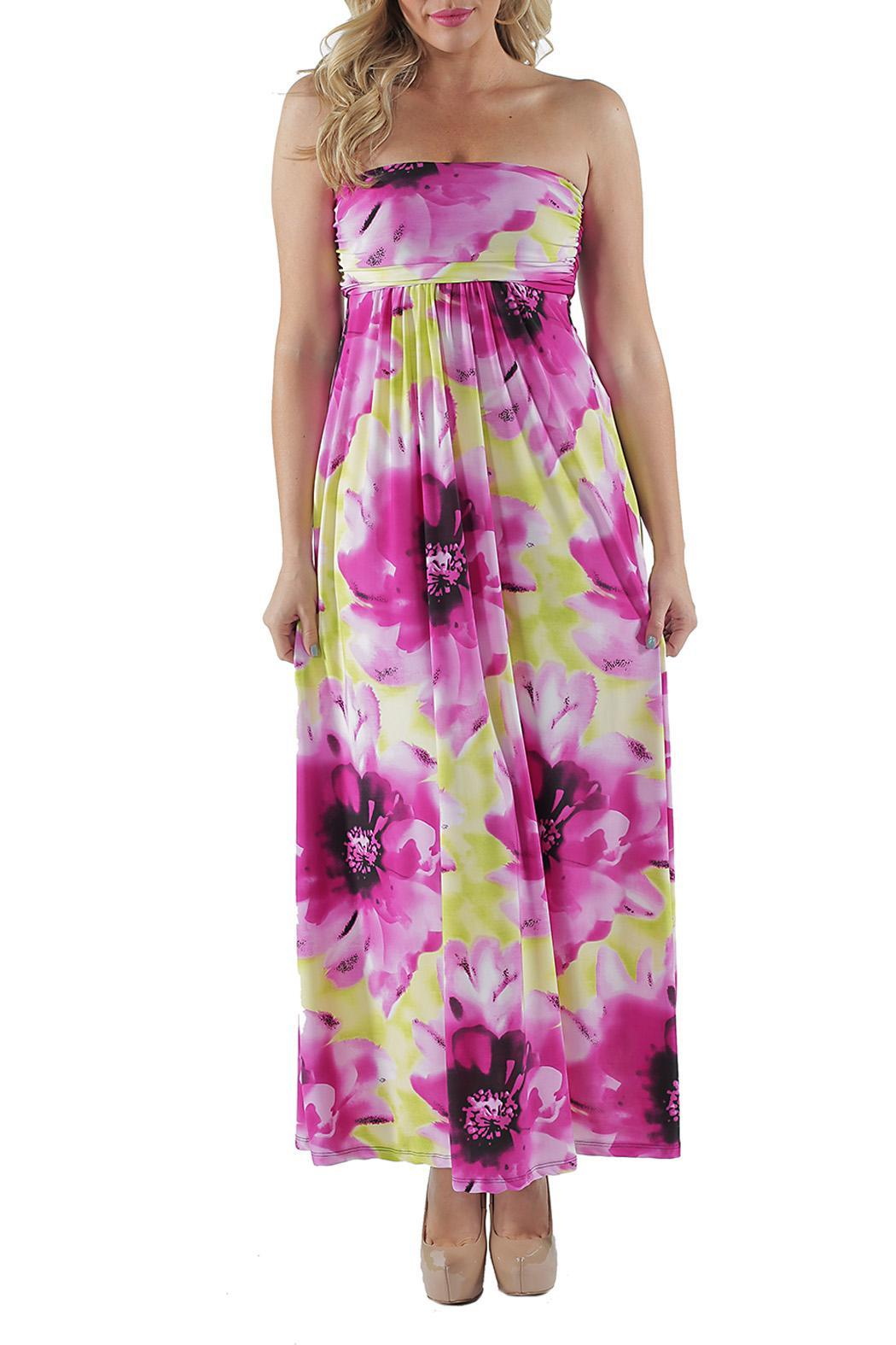 24/7 Comfort Apparel Plus Size Tube Maxi Dress from California by ...
