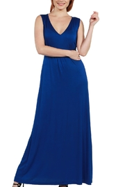 24/7 Comfort Apparel Vneck Maxi Dress - Product Mini Image
