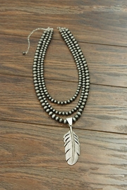 JChronicles 24-Inch Navajo-Pearl Feather-Pendent-Necklace - Product Mini Image