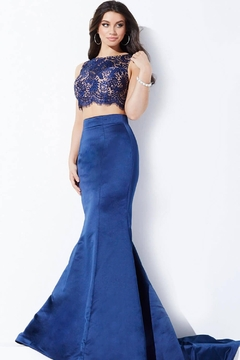 Jovani 24073A - Lace and Satin Two-Piece Gown - Alternate List Image