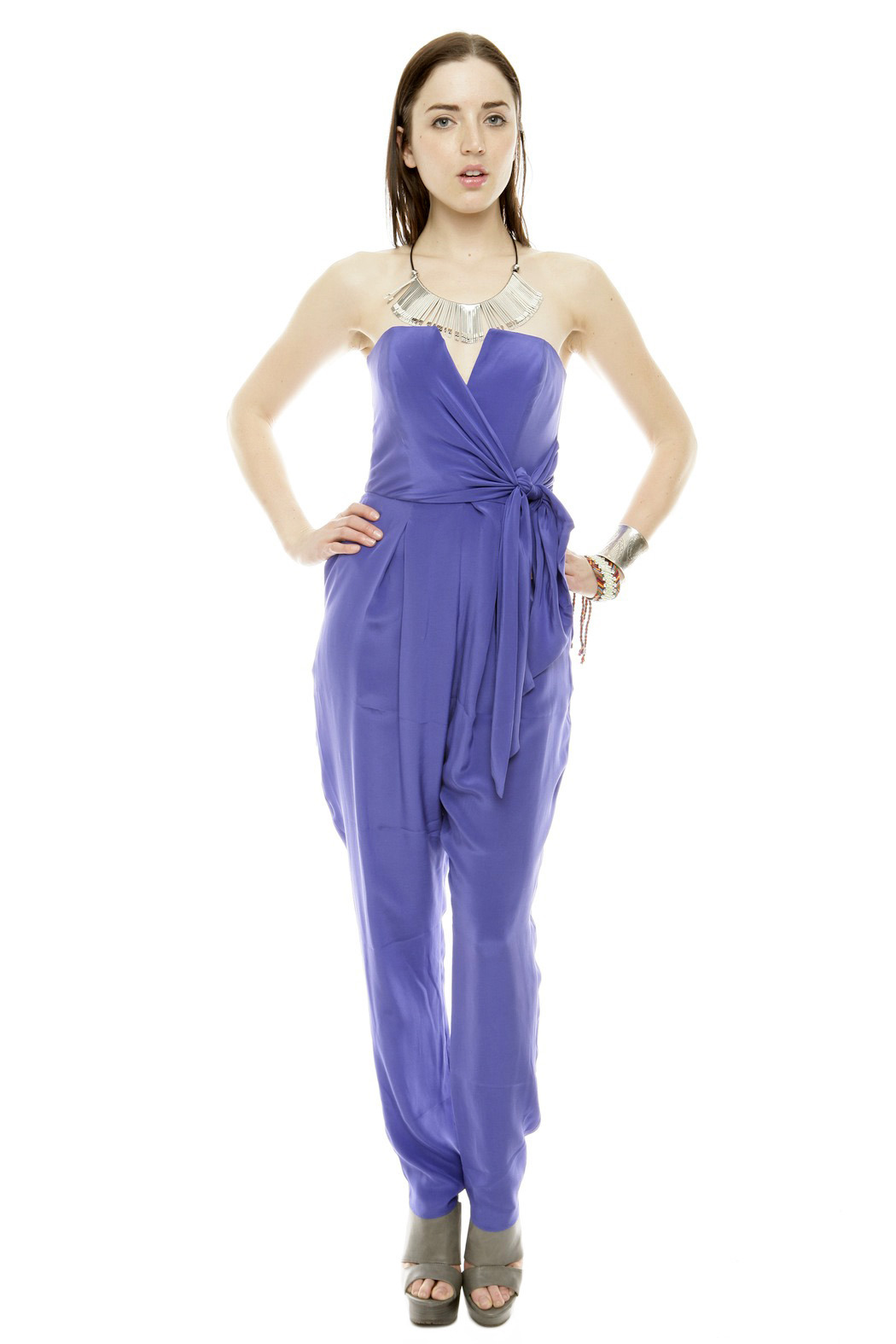 Zimmerman Strapless Prism Jumpsuit - Front Cropped Image