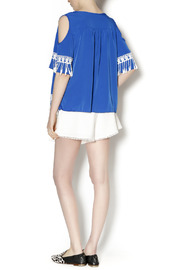 Abby & Taylor Blue Crochet Trim Tunic - Side cropped