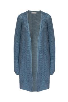 Shoptiques Product: Blue Knitted Cardigan