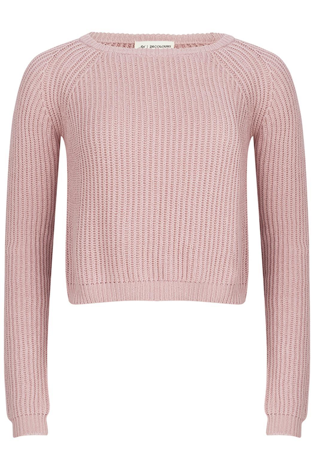 24colours Pink Cropped Sweater from Netherlands by Wear for Love ...