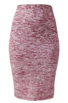 Shoptiques Product: Red Melanged Skirt
