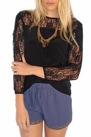 MYNE Lace Silk Top - Product Mini Image
