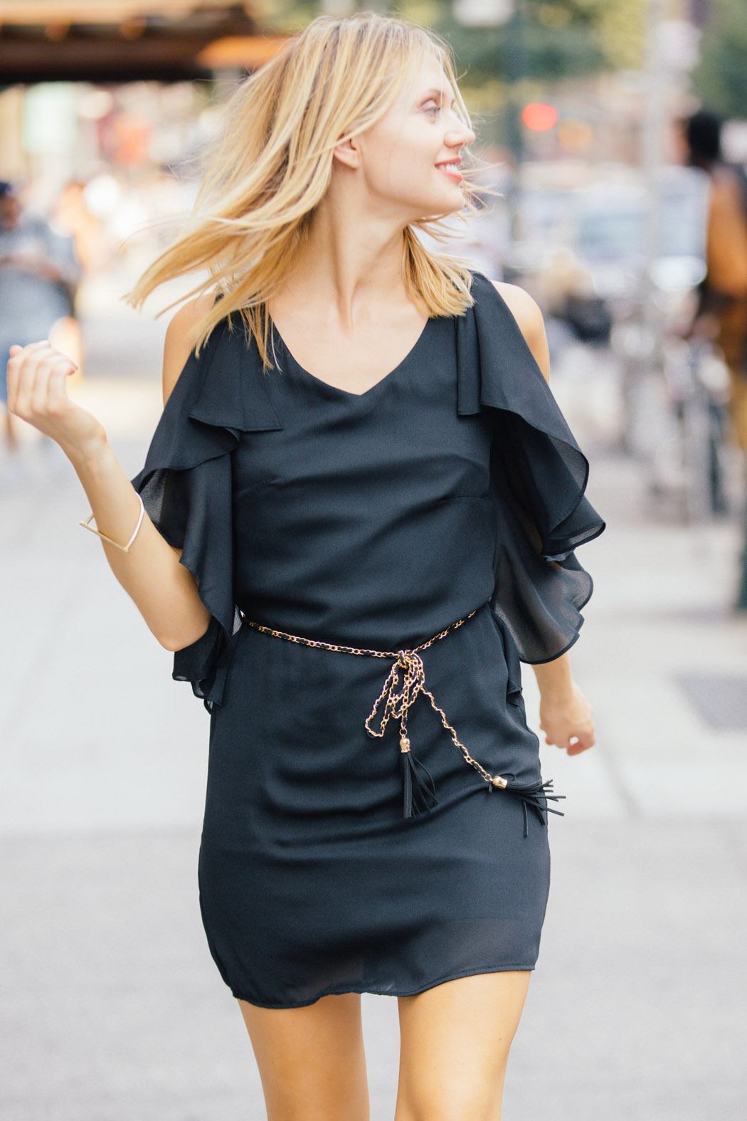 Ya Los Angeles Classic Black Dress - Front Cropped Image