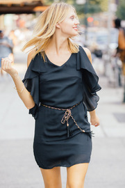 Ya Los Angeles Classic Black Dress - Front cropped