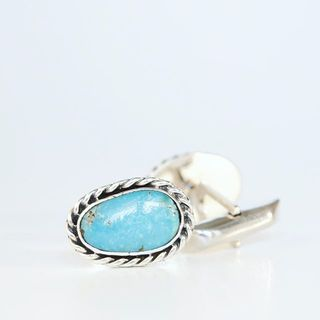 Shoptiques Turquoise Cuff Links