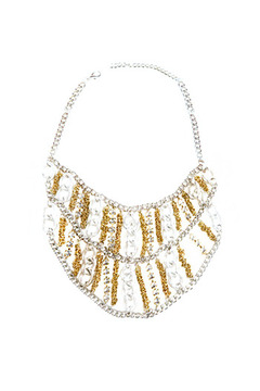 MAI Collection Silver Bib Necklace - Alternate List Image