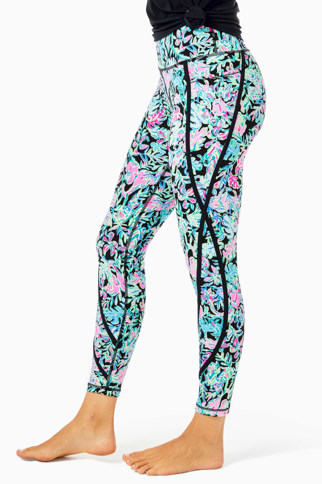 """Lilly Pulitzer  26"""" Weekender High Rise Leggings - Side Cropped Image"""