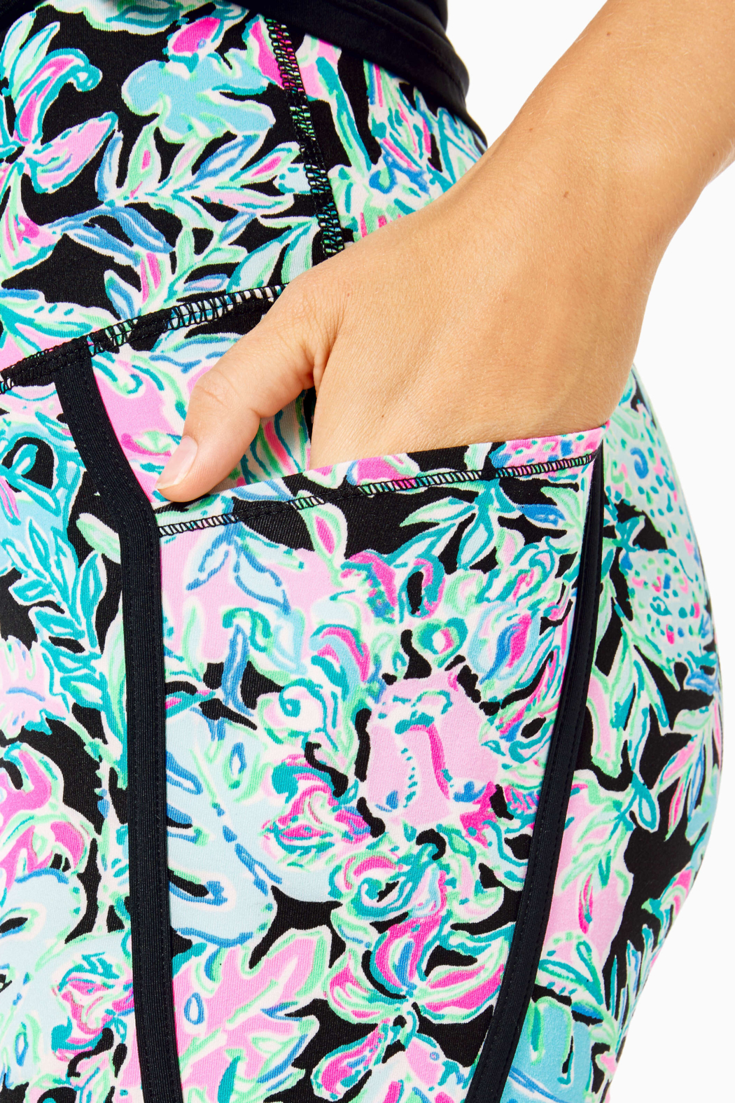 """Lilly Pulitzer  26"""" Weekender High Rise Leggings - Back Cropped Image"""