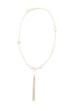 La Vie Parisienne Gold Tassel Necklace - Product List Image