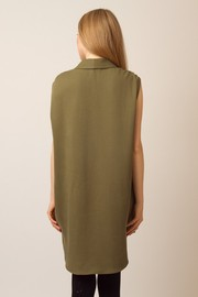 Shoptiques Product: Sleeveless Button-up Blouse - Back cropped