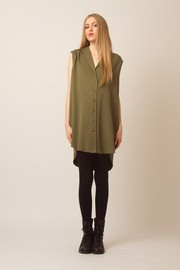 Shoptiques Product: Sleeveless Button-up Blouse - Front full body