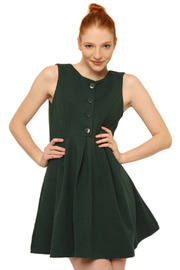 Aoyama Itchome Sleeveless Button Dress - Front cropped