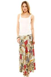 Isle Feather Maxi Skirt - Front full body