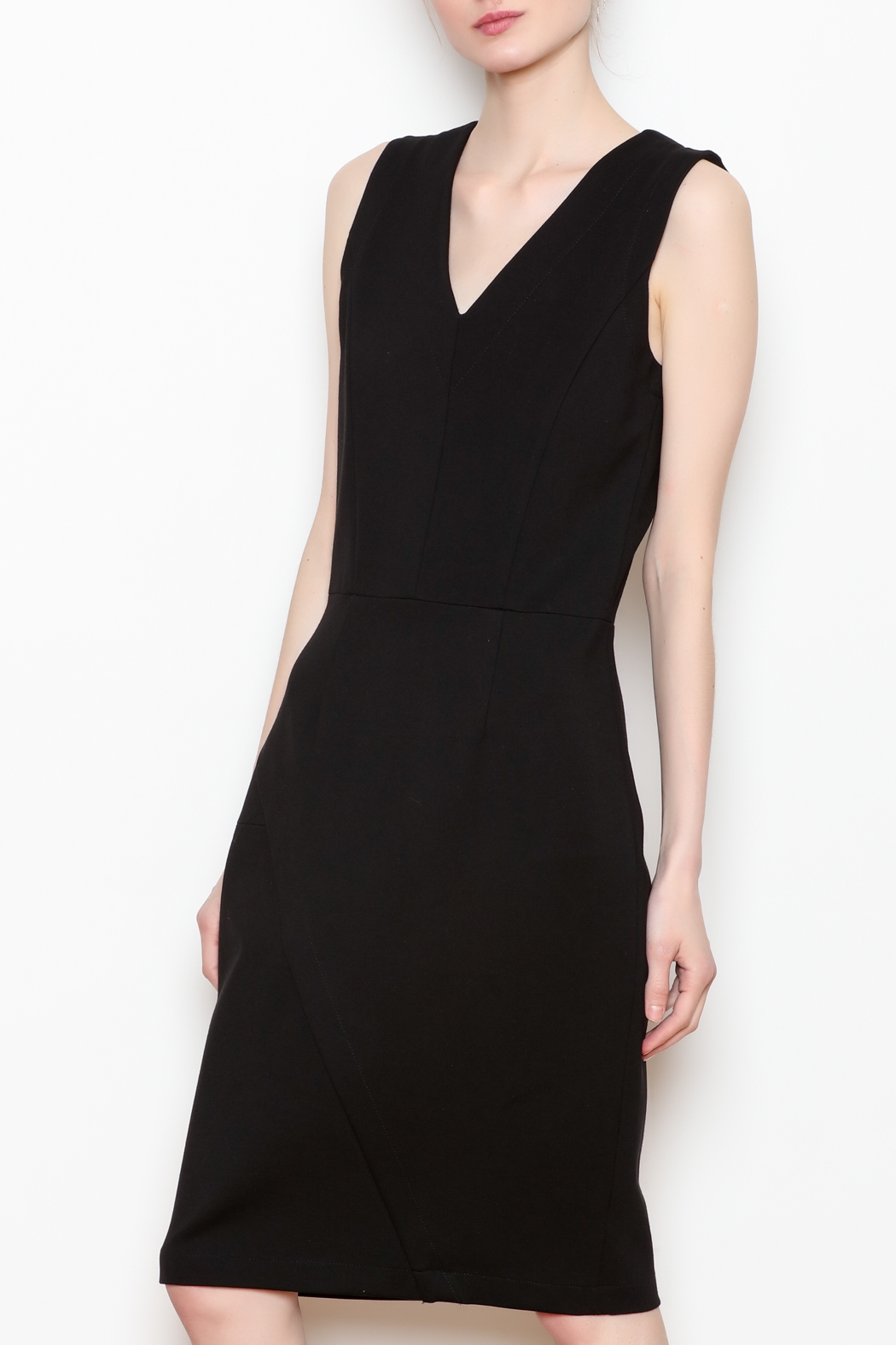 26Line by MLNK Black Sheath Dress - Main Image