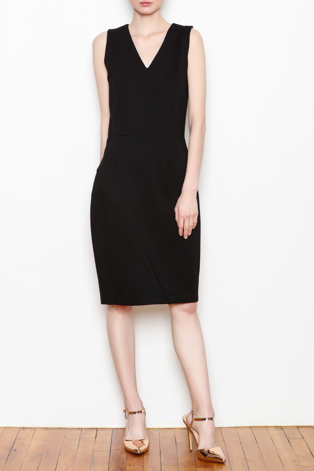 26Line by MLNK Black Sheath Dress - Front Full Image