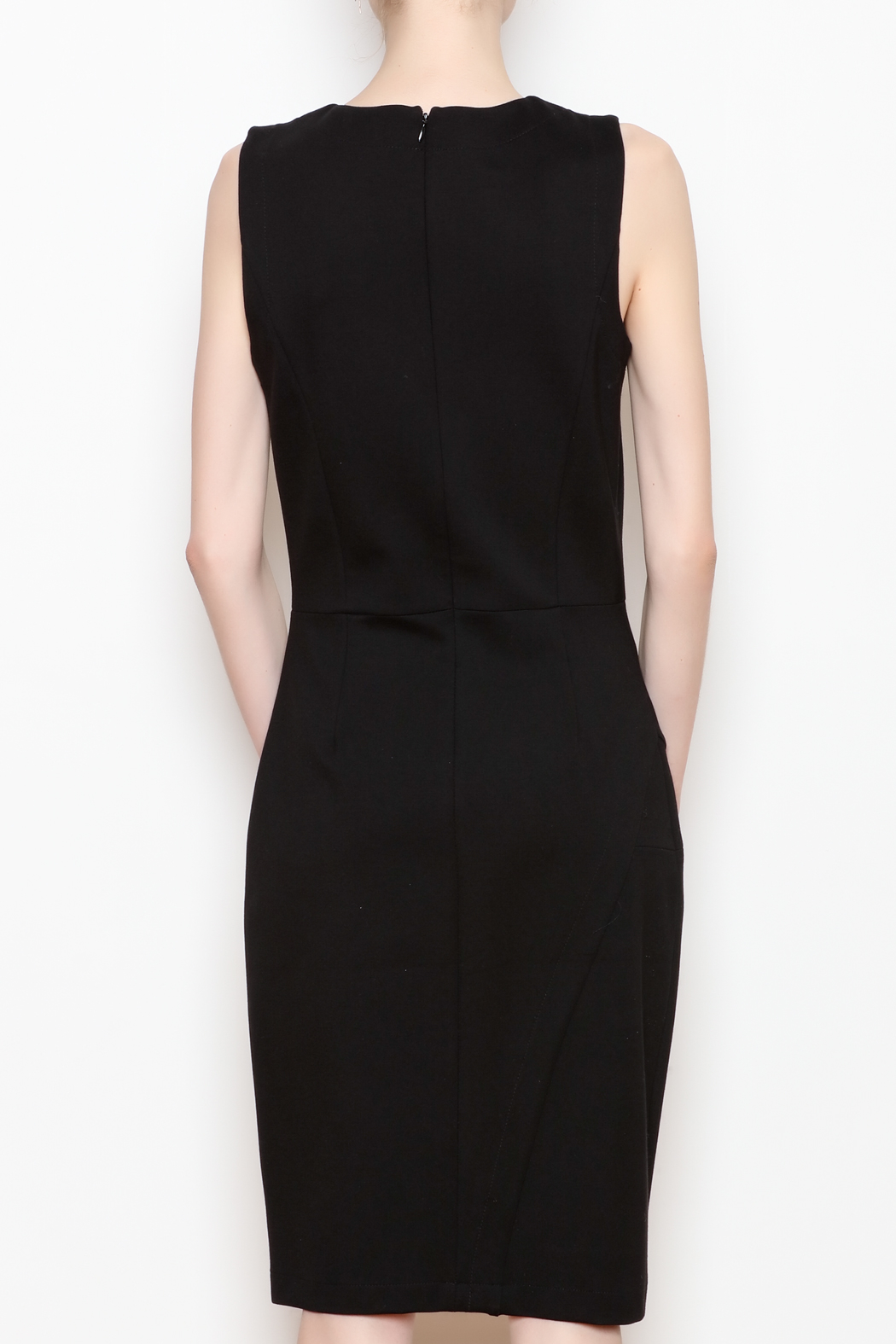 26Line by MLNK Black Sheath Dress - Back Cropped Image