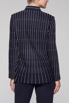 Ming Wang At the Office Jacket in Indigo - Alternate List Image