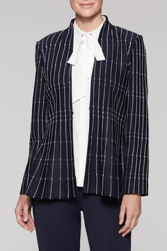 Ming Wang At the Office Jacket in Indigo - Product List Image