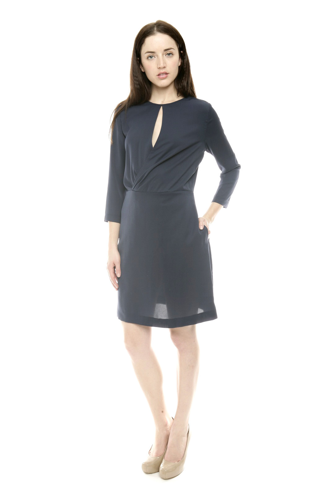 Moon Wrap Front Cocktail Dress - Front Full Image