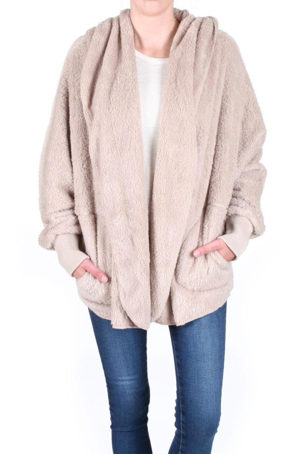 Honey Punch Fuzzy Hooded Jacket - Main Image